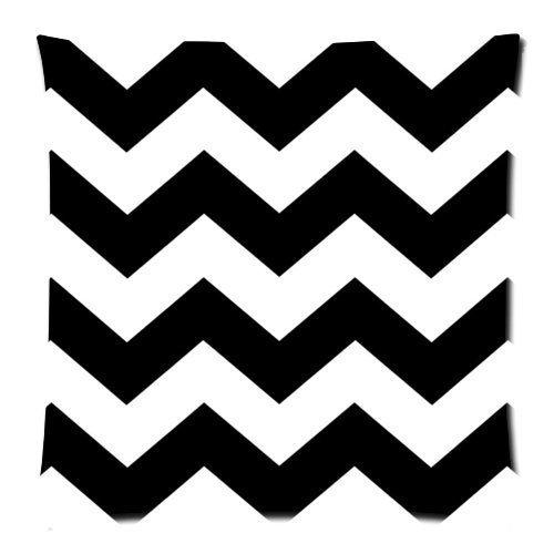 Noir et blanc Chevron zigzag Motif zigzags Housse de coussin - Couvre-lit Taie d'oreiller Decor Housses de coussin carré avec fermeture Éclair invisible - 45,7 x 45,7 cm, Twin-sided Impression