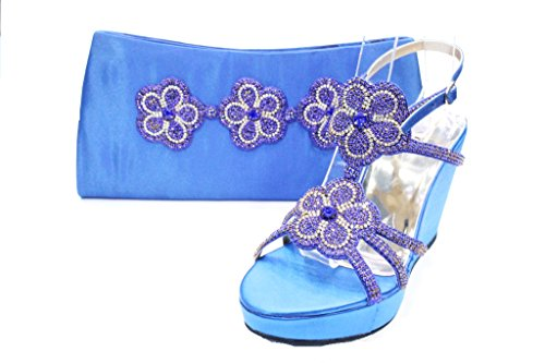 Wear & Walk UK , Damen Sandalen Blau
