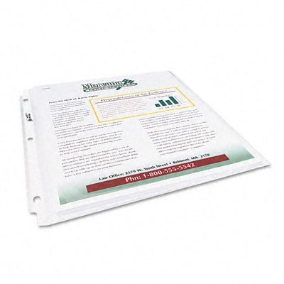 Multi-Page Top-Load Sheet Protectors, Heavy Gauge, Letter, Clear, 25/Pack, Sold as 1 Package