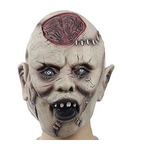 YWJ Maske Halloween Clown Masken kostüm Kinder Killer Ostern werwolf Spiel Pferde Latex Accessoires Pferd Einhorn Spielzeug Erwachsene halbmaske bemalen Party maskenball Karneval (Werwolf-maske Kinder Für)