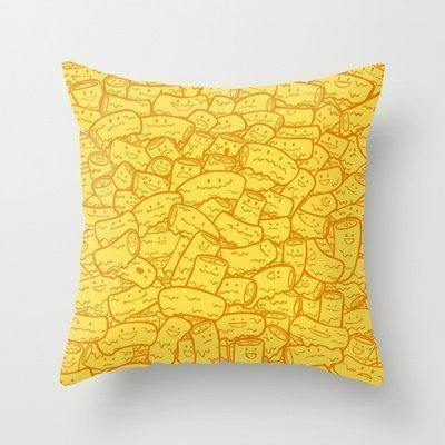 ow Pillow Case Cushion Cover Mac and Cheese,Cover Size:20 x 20 Inch(50cm x 50cm) ()