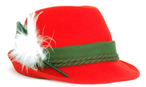 Trachtenhut in rot von Faustmann, Hutgröße:58, Farbe:Rot