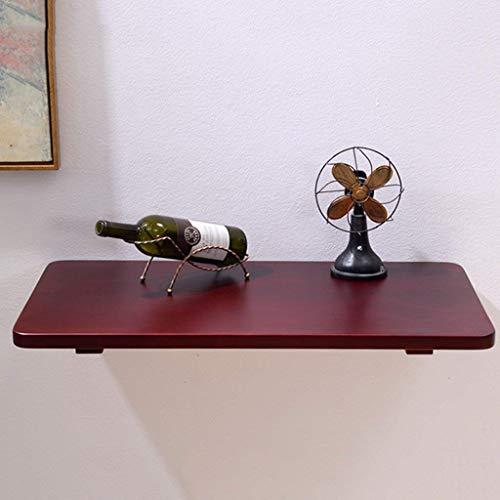 Computertisch aus Holz passt Sich an jeden Raum an Wand-Klapptisch Klappbarer Schreibtisch Esstisch Rot-Braun Wandtisch Studie Laptop Tisch Schreibtisch Schwimmendes Wandregal,90 ()
