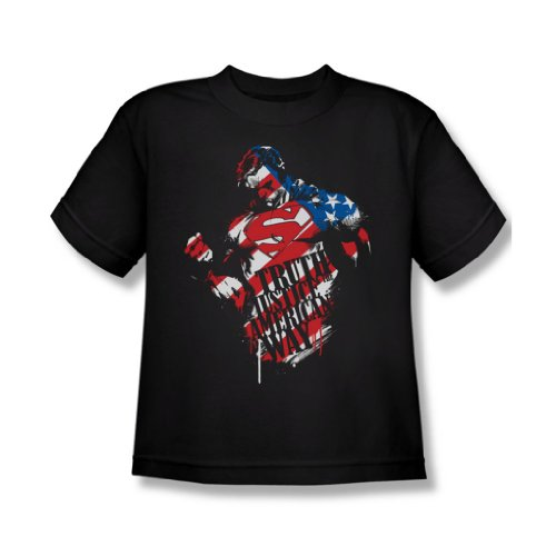 Superman - The American Way Jugend-T-Shirt in Schwarz, X-Large, Black -