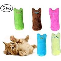 Umiwe Katzenminze Plüsch Spielzeug KatzenSpielzeug, Katzen Kauen Kissen Spielzeug Knuddel Kissen 100% Catnip Füllung Interaktive Katzen Kauen Spielzeug