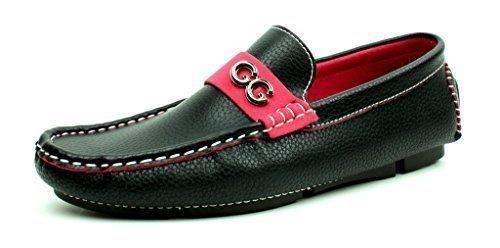 Unisexe Mocassins À Enfiler Chaussures Semelle Antidérapante Mode Décontractée Semelle Mocassins Tailles noir 1