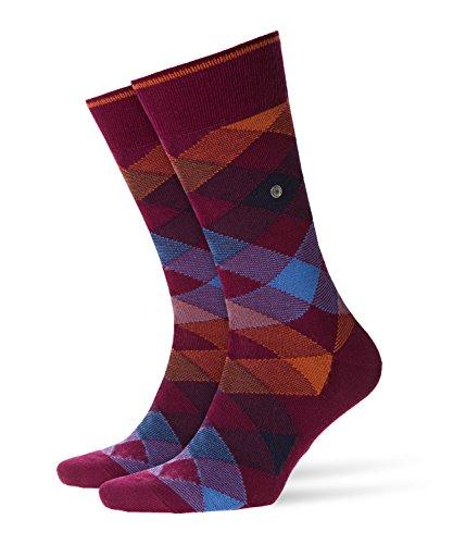 Burlington Herren Newcastle Casual Socken, Blickdicht, Rot (Redmerlot 8005), 7-10 (Herstellergröße: 40-46)