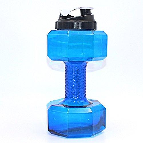 n Form Kunststoff Big großes Fassungsvermögen Gym Sport Wasser Flasche, blau (Kunststoff Party Drinkware)