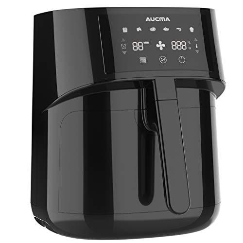 AUCMA 5,5 L Heißluftfritteuse Airfryer mit Luft Friteuse Elektro digitalem LED Touch Display, 1500W Luft Friteusen Herd für gesunde Öl frei & Low Fat Kochen
