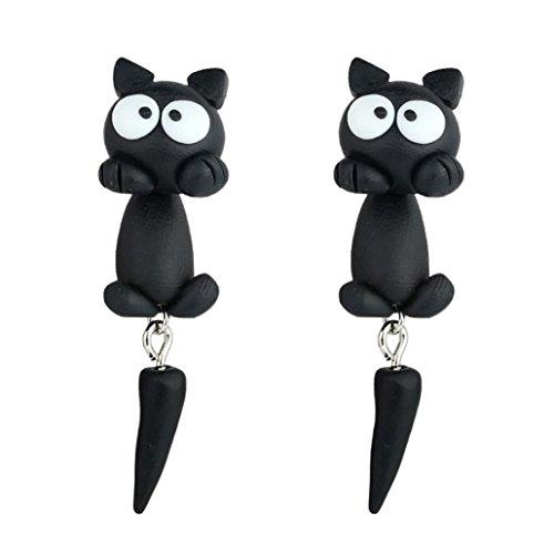 Schmuck Damen DAY.LIN 1 Paar Schmuck handgemachte Ton weiche Keramik Ohrringe Tier Ohrring Zubehör (G) (Bootcut-kleid)