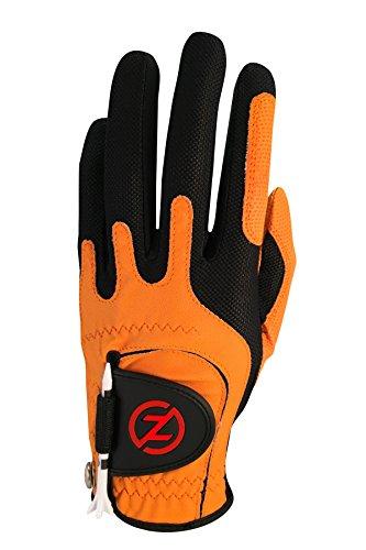 Zero Friction Null Reibung Herren Compression-fit synthetischen Golf Handschuh, Universal Fit One Size, Herren, Orange