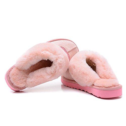 Mesdames intérieur chaud chaussures réparation Mouton Chaussons en fausse fourrure 1
