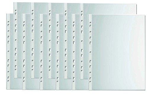 1000 Stück Prospekthüllen Klarsichthüllen Din A4 Dokumenten-hülle Extra Dünn mit Lochrand zum...