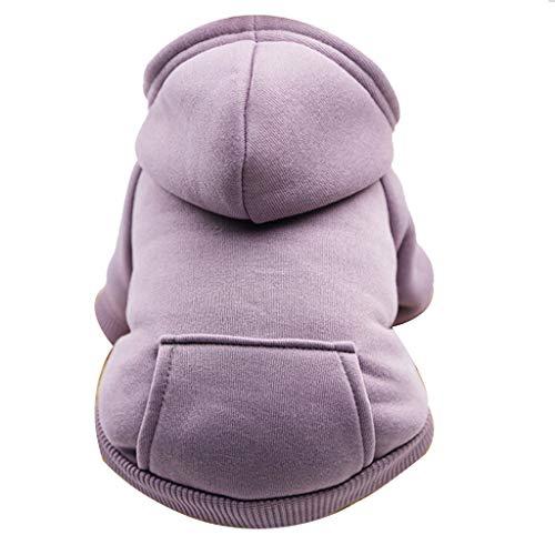 SOMESUN Hundekleidung Kapuzenpullis Hundemantel Hundejacke Hundepullover Warm Winter Kapuzen-Sweatshirt mit Tasche Haustier Kleidung -