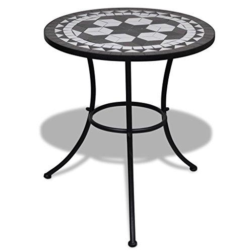 vidaXL Mosaik Gartentisch 60cm Mosaiktisch Gartenmöbel Tisch Beistelltisch