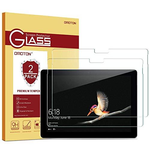 OMOTON [2 Stück] Panzerglas Schutzfolie für Microsoft Surface Go mit 9H Härte, Anti-Kratzen, Kristall-klar, Bläschenfrei zu Montage