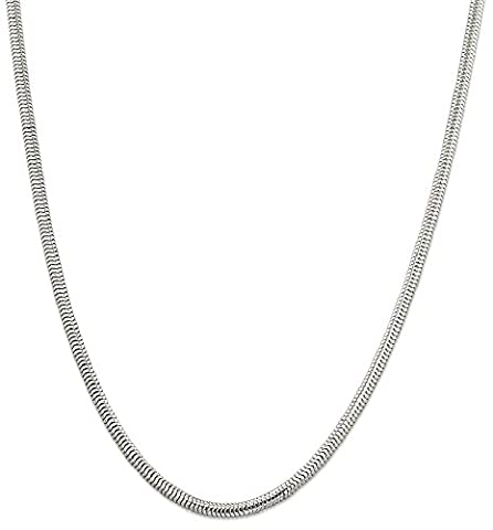 IceCarats 925 Sterling Silver 4mm Round Snake Chain Necklace 20 Inch