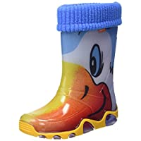 Toughees Shoes Unisex Babies' Character Welly with Removable Sock Duck Wellington Boots, Blue (Blue), 11 Child UK 30/31 EU