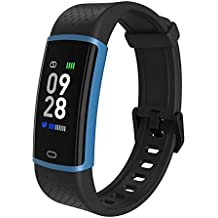 Hoteon Fitness Tracker, Step Tracker Fitness Watch with Heart Rate Monitor, IP67 Waterproof Smart Watch with Sleep Monitor, Calorie Counter, Pedometer for Kids Women Men (Blue)