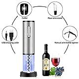 Apribottiglie TOQIBO Cavatappi Elettrico Professionale con Tagliacapsule Cavatappi e Vino Versatore - LED Cavatappi Ricaricabili