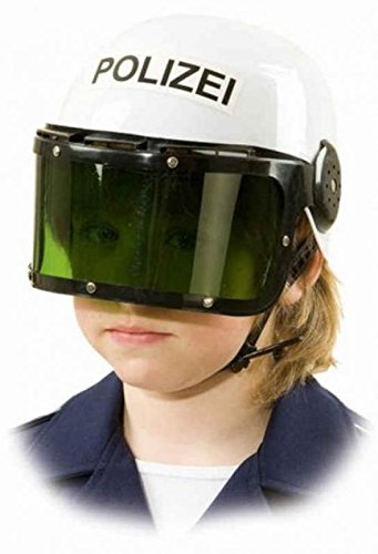 O23077 weiß Kinder Polizei Helm (Polizei Kleid Kinder Für)