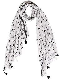 Raiter Women's Cotton Free Size White Stole