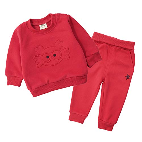 Bebé Conjunto de Sudaderas Pack de 2, Camisetas Pantlones Sweatshirt Pull-over Manga larga Trajes 12-18 Meses