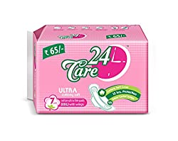 24Care Ultra Cottony Soft Sanitary Napkins Pads - Xxl 320Mm (Pack Of 7 )