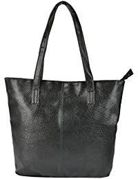 Preeti PU Black Tote Hand Bag For Women