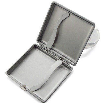Peino Males Tabakbox mit einer Tasche, 20 Stück, extradünn, aus Metall, Schwarz