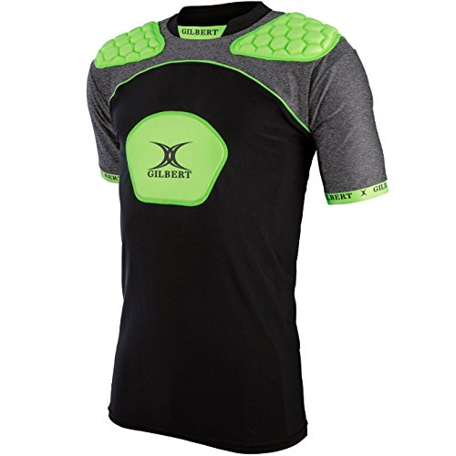 Gilbert Rugby Atomic V3 Body Armour (Red / Green / Blue)