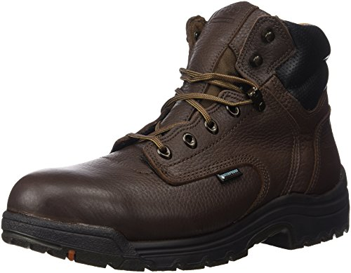 "Timberland PRO Men's 26078 Titan 6"" Waterproof Safety-Toe Work Boot,Dark Mocha,10 M Marrone (marrone)"
