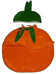 Orange Fruit Kids Dress (Cutout With Cap) For Fancy Dress Competitions