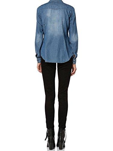 Vero Moda Damen Jeanshemd Jeansbluse Denim Medium Blue