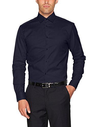 SELECTED HOMME Herren Businesshemd SHDONENEW-Mark Shirt LS NOOS, Blau (Navy Blazer), Large