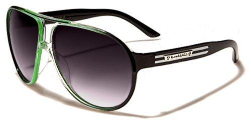 Biohazard Aviator Sonnenbrillen - Pilotenbrille - Radfahren - Skifahren - Motorradfahren / Hawaii Grün