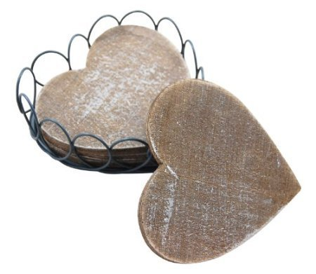 gisela-graham-shabby-chic-wooden-heart-coasters-in-wire-basket