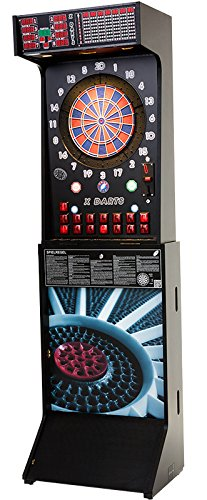 Cyberdine - X Darts Dartautomat Turnierautomat für bis zu 8 Spieler | 300+ Spiele | leicht transportabel dank Klappmechanismus | inklusive 1 Jahr Garantie (schwarz)