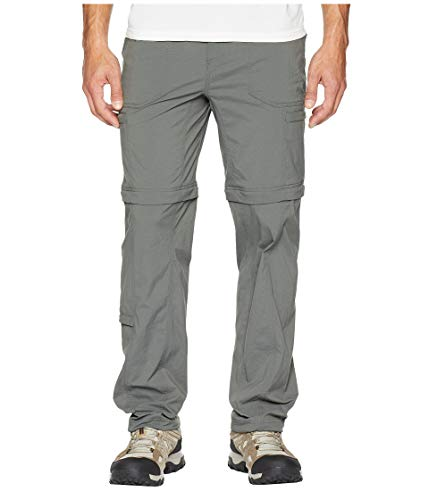 Royal Robbins Men's Bug Barrier Traveler Zip N' Go Pants, Charcoal, Size 30 Insect Shield Convertible Pant