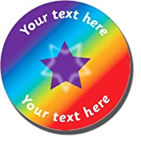 70 Personalised Rainbow Spectrum Star Childrens Pupils Motivational School Praise Teachers Reward Stickers 25mm Primary Teaching Services