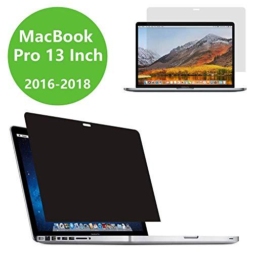 """PaceBid Privacy Filter I Blickschutz Folie I Sichtschutzfolie kompatibel mit Apple MacBook Pro 13\"""" (2016-2018), Einfach zu entfernen & wiederzuverwenden"""