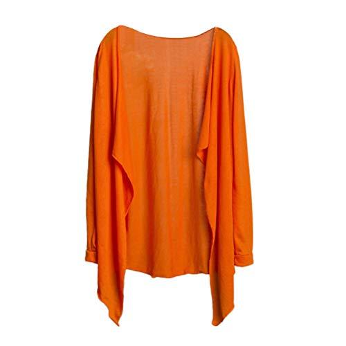 Bluelucon Damen Strickjacken Frauen Strickmaterial Mäntel Freizeit Einfarbig Cardigan Slim Im Langen Kimono Zieher