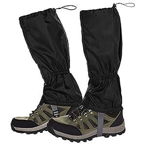 NATUCE Outdoor Gamaschen,wasserdichte Einstellbare Gamaschen Atmungsaktive Beinschutz Gaiter für Outdoor-Hosen zum…