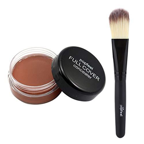 B Blesiya Duradero Paleta de Corrector Maquillaje Polvo de Sombra de Ojos Pincel Brush de Polvos Sueltos Aplicadores - D