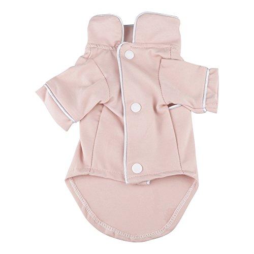 Pangding Haustier Pyjamas, atmungsaktive Nachtwäsche Kleidung Shirt Overall Kostüm Mantel für Hund Welpe Katze(XS-Rosa) -