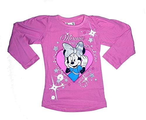 Minnie -  maglia a manica lunga - a punta tonda - manica lunga - ragazza rosa 3 anni