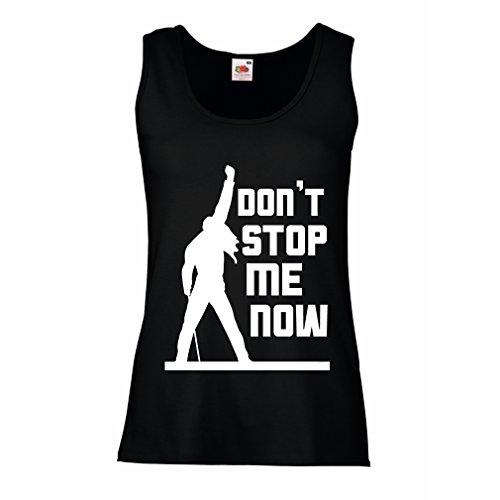Teens Cute Tank-tops Für (Damen Tank-Top Don't Stop me Now! Fan Shirts, Musiker Geschenke, Rock Kleidung (Small Schwarz Mehrfarben))