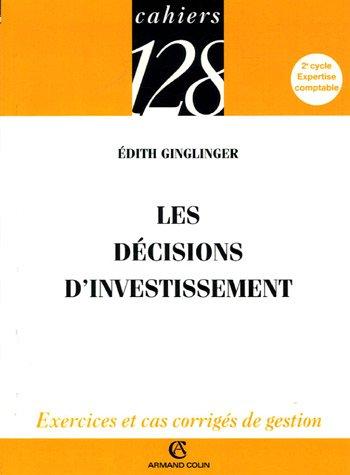 Les décisions d'investissement