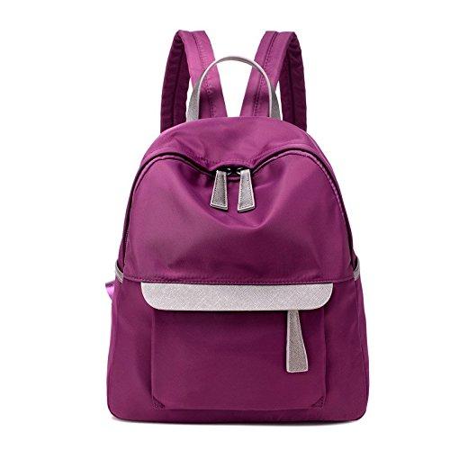 la borsa di stoffa, oxford, signore di borsa, breve,black violet