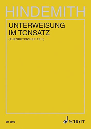 Unterweisung im Tonsatz: Theoretischer Teil. Band 3.